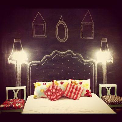 lavagna testata letto