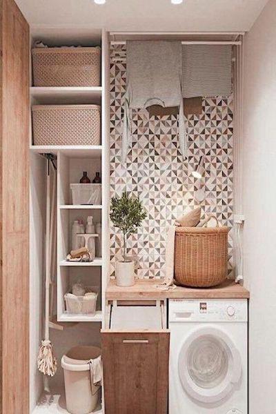 lavanderia piccola organizzata