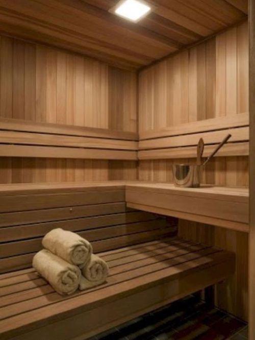 sauna finlandese interno