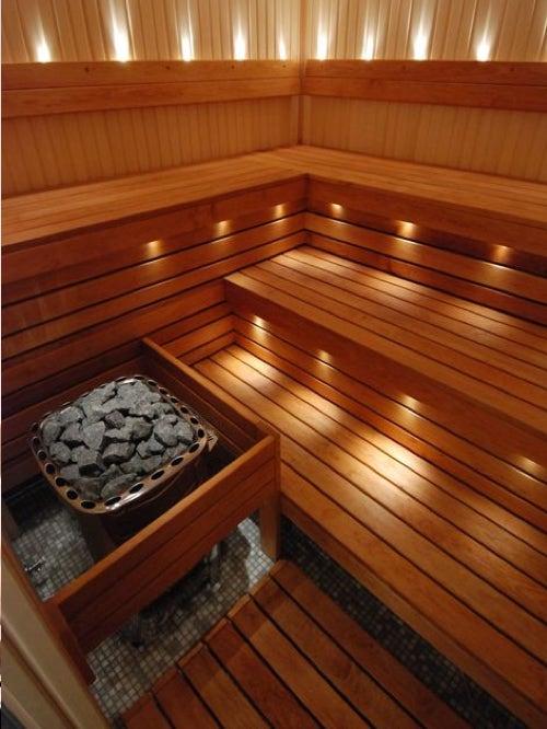 sauna finlandese panche legno