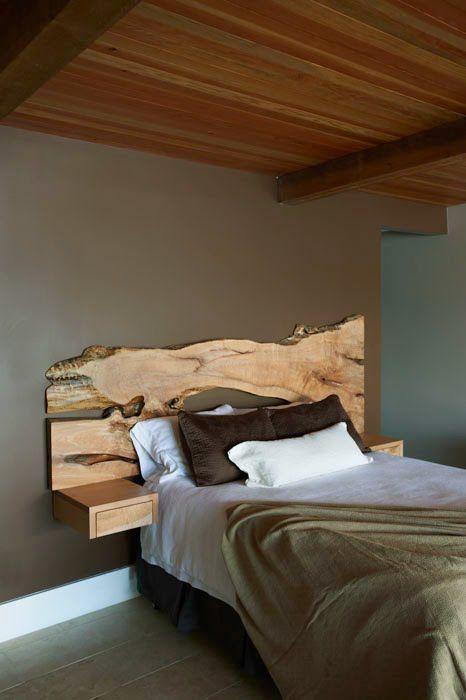 tavole legno testiera letto