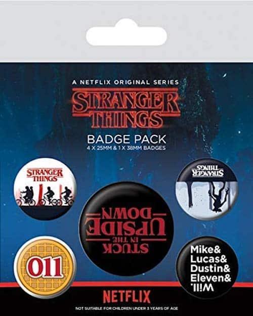 stranger things badge pack