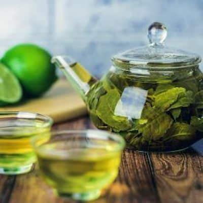 tè verde impacchi gambe gonfie