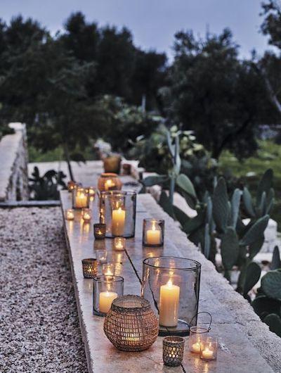 allestimento lanterne giardino