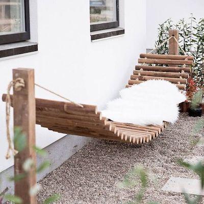 amaca giardino legno
