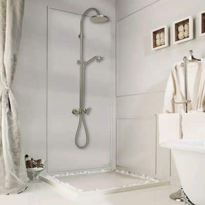 box doccia bagno centro parete