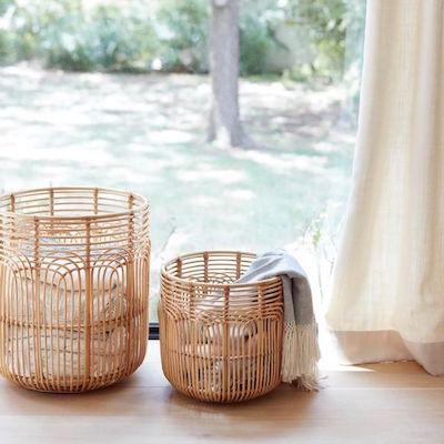 ceste portabiancheria bambu
