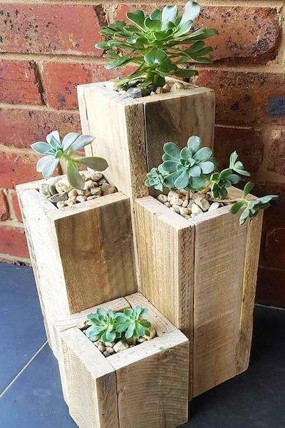 fioriera legno giardino