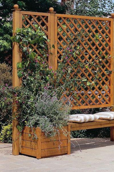 fioriera legno terrazzo
