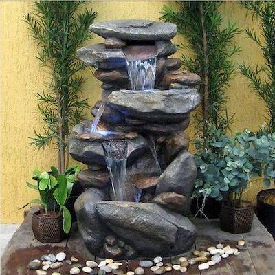 fontana decorativa giardino interattiva
