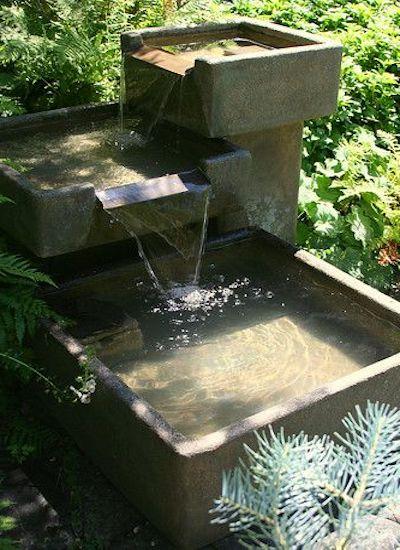 fontana giardino cemento