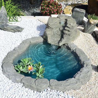 fontana giardino interattiva