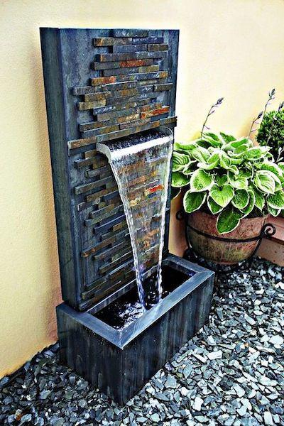 fontanella giardino muro