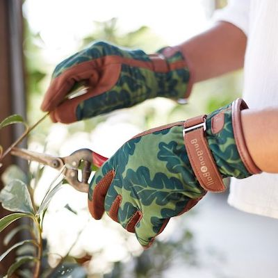 guanti giardinaggio finta pelle