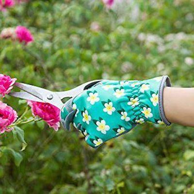 guanti giardino finta pelle