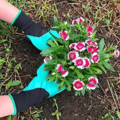 guanti giardino gomma