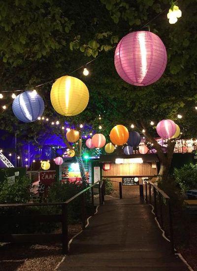 lanterne giardino carta