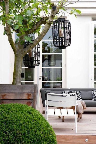 lanterne rattan giardino