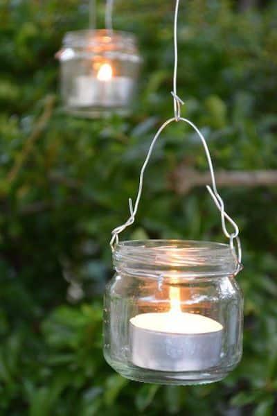 lanterne vetro giardino