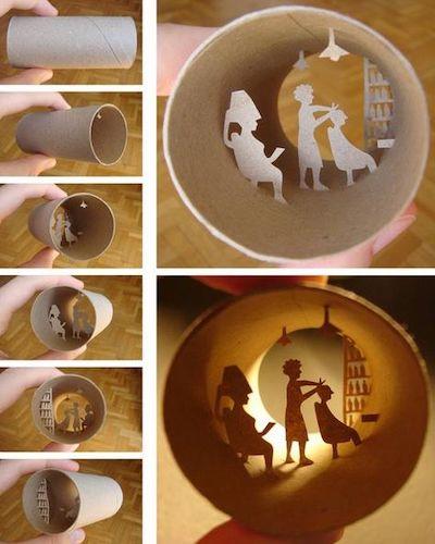 sculture miniatura rotoli carta igienica