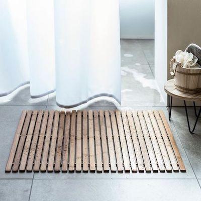 tappeto bagno bambù