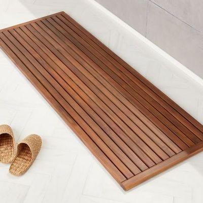 tappeto bagno legno