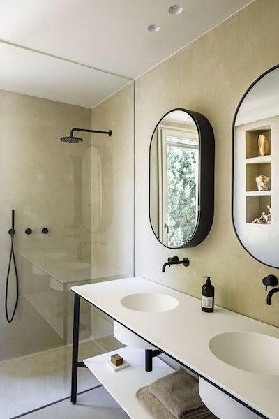 bagno pareti senza piastrelle