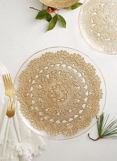 decoupage sotto vetro piatto