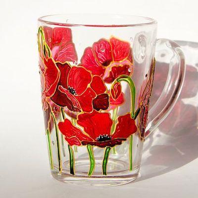 decoupage vetro bicchiere