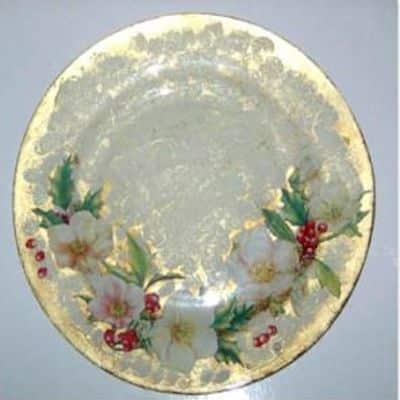 decoupage vetro piatto