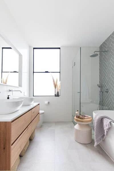 pareti bagno senza piastrelle