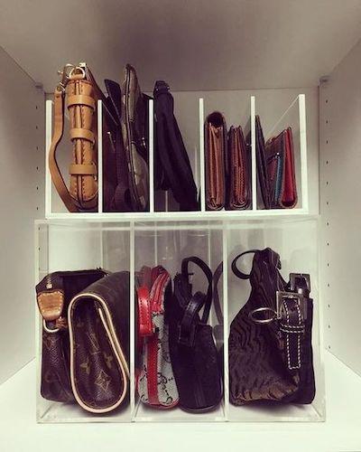 divisori armadio borse