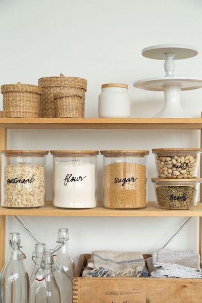 etichettare barattoli cucina