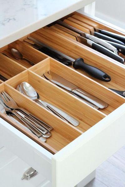 organizzazione posate cucina