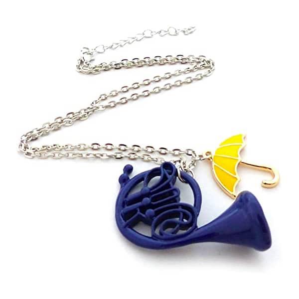 Collana ombrello giallo corno blu How i met your mother