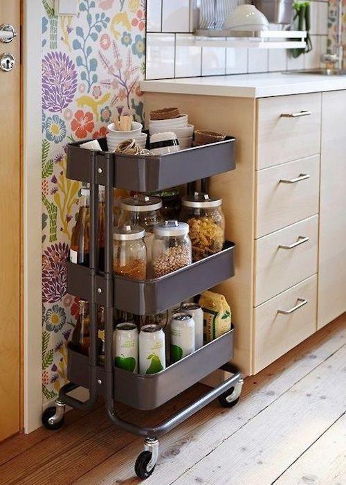cucina piccola mobili rotelle