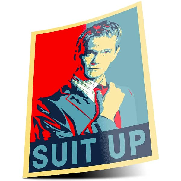 Poster Suit Up Barney How i met your mother