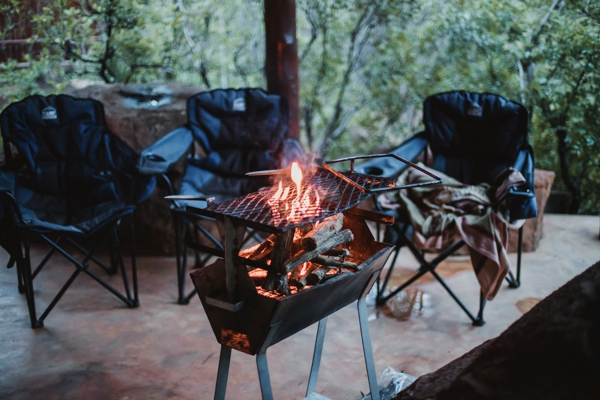 barbecue da giardino a legna