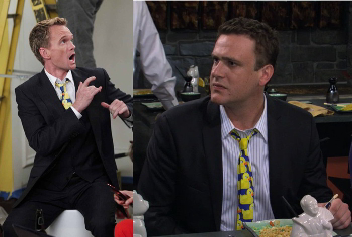 cravatta gialla papere himym