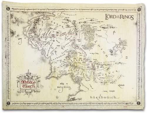 mappa terra di mezzo signore degli anelli