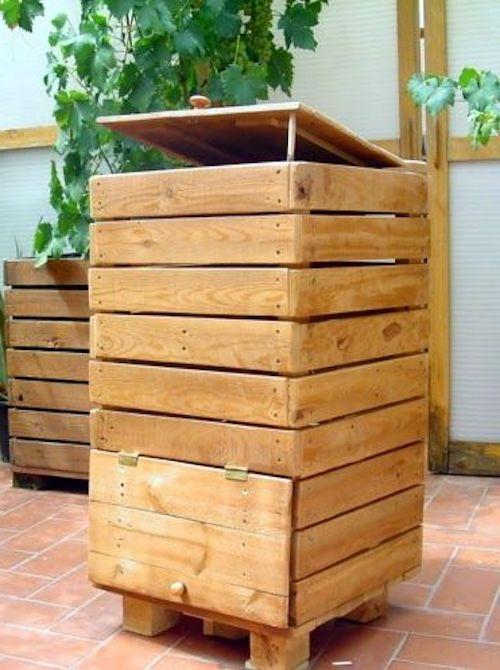 bidone pallet per compost