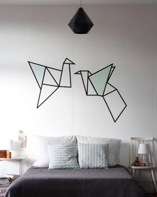 disegni pareti washi tape