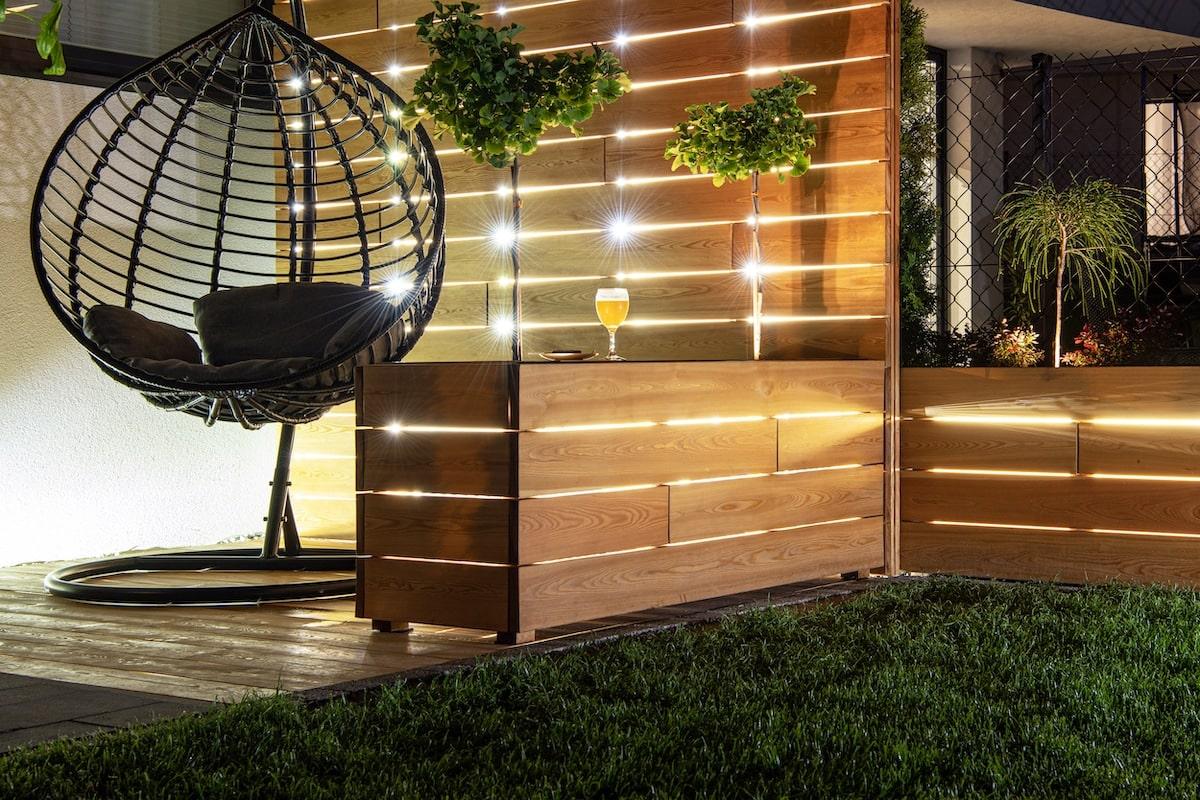 elegante illuminazione giardino