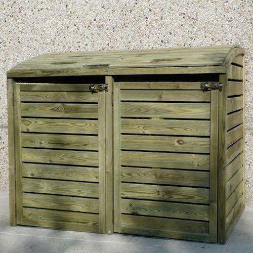 contenitore differenziata in legno