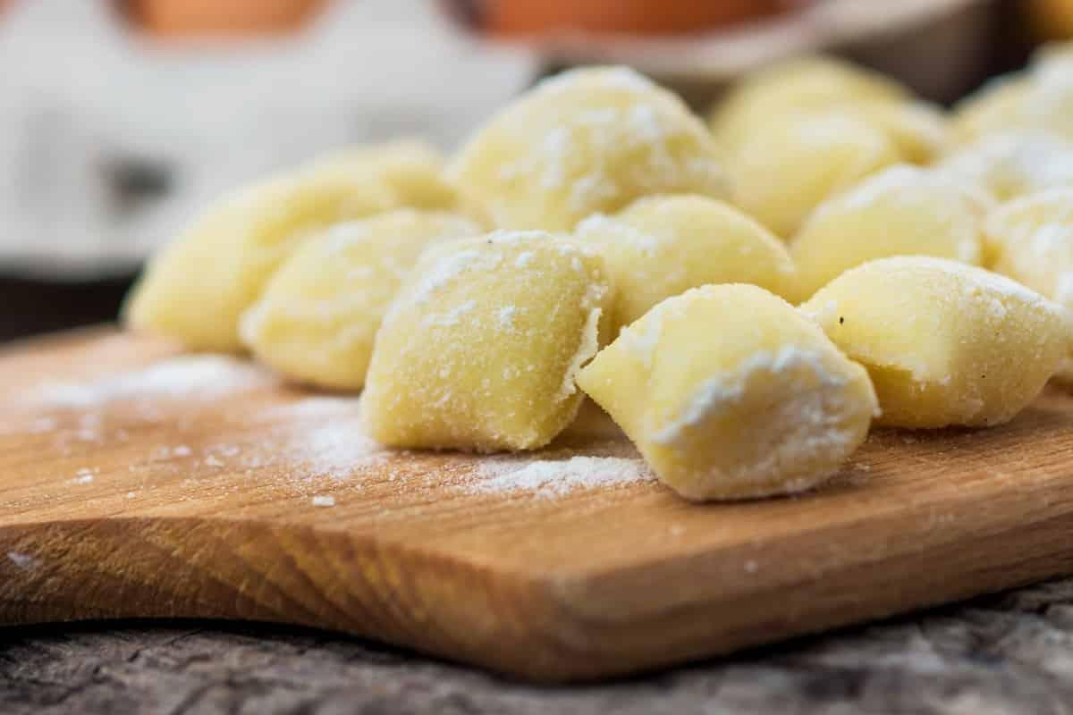 gnocchi con farina di ceci