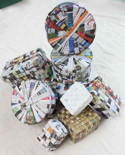 fogli di giornale per scatole