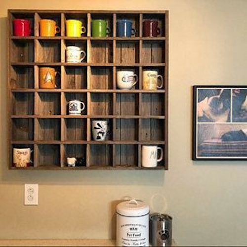mensole porta tazzine caffè
