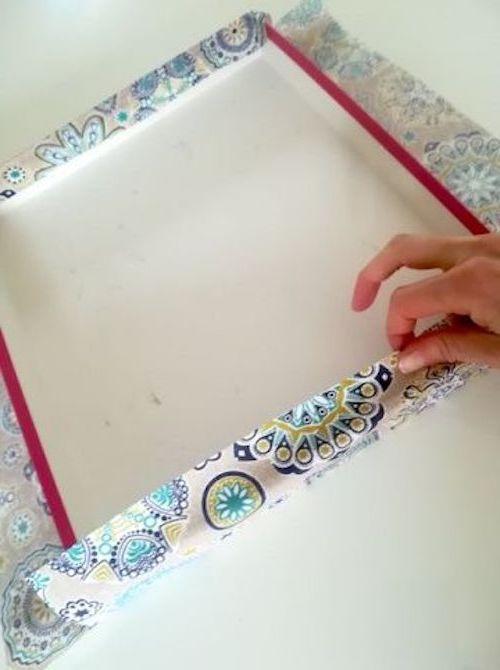 rivestire scatola con tessuto